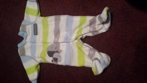Newborn Boy fleece onsie