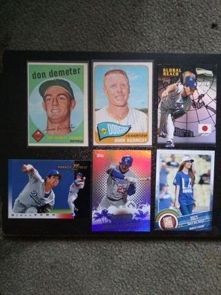 '50's-Present L.A. Dodgers Lot of 6