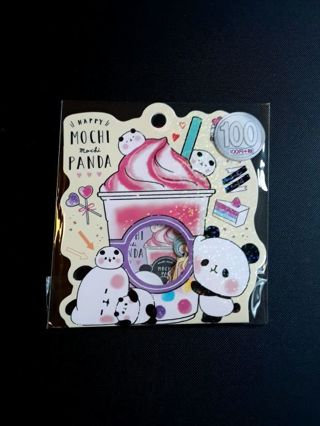 "Kamio '2019'~""Happy Mochi Mochi Panda"" Sticker Sack *New Release!!* ☆Kawaii Bonus☆ ~Last One!!~"