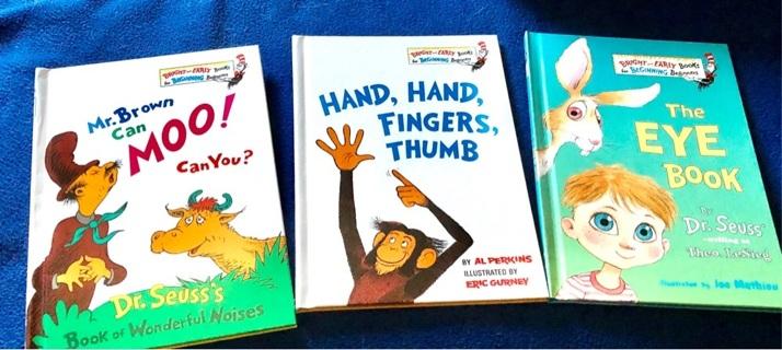 Three BNWOT Dr. Seuss' Beginner's Hardcover Books. Fun Reading!!