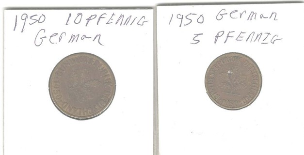 Two 1950 German Coins