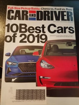 Car and Driver Magazine January 2019