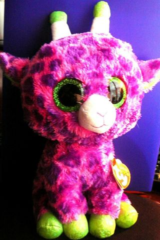 """TY BEANIE BOOS """"GILBERT THE GIRAFFE"""" 10 1/2 INCHES With Tag"""