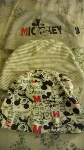 Mickey Mouse baby beanies! NEW!!**
