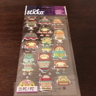 Sticko dimensional alien stickers