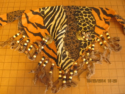 80's Neckerchief Animal Print Pony Beads Conchos