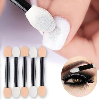 Pro Eye Shadow Brush Sponge Applicator Nail Glitter Brush Tools Mirror Powder