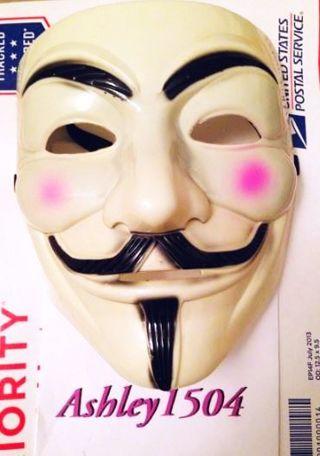 NEW Anonymous Mask Guy Fawkes Accessory Msaquara