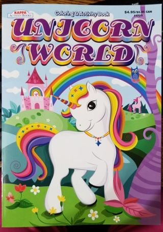 Unicorn World Coloring & Activity book
