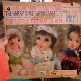 2 Musical Record Combo: Sing We Now of Christmas & Merry Christmas Carols with Organ and Chimes