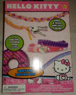 Free Hello Kitty Lanyard Lacing Kit Other Craft Items Listia