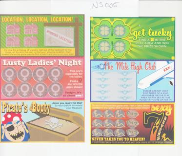 Naughty Adult Scratch-Offs as shown NS005