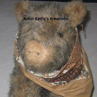 Kathy's stuffed animal javelina baby handcrafted