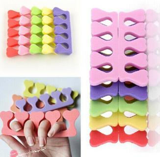 10PCS Nail Art  Sponge Foam Finger Toe Separator Salon Pedicure Manicure Tool JT