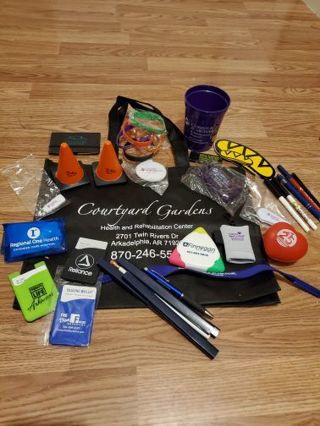 LET'S FILL A BAG WITH RANDOM PROMOTIONAL STUFF Tiered Auction Part 2 *Please Read Full Description*