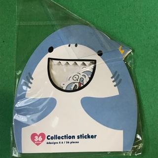 Sharks Kawaii sticker flakes sack NEW