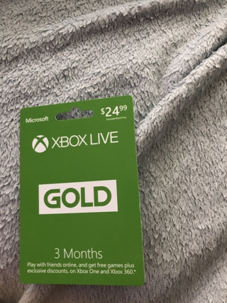 Xbox live gold 3 month subscription
