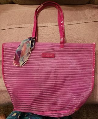 ** Pink See-Through Lancome Paris Bag **