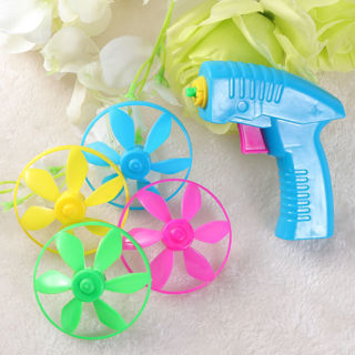 1PC Nontoxic Safe Funny Peashooter Gun Toy Flying Saucer Gun Flying Saucer Toys