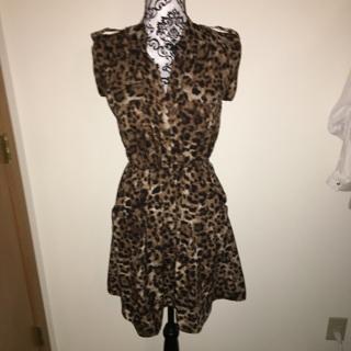NWT leopard print dress size small