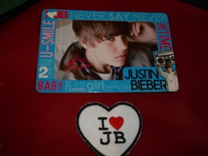Free: *Attention* JUSTIN BIEBER FANS! PIC in FRAME & IRON ON PATCH ...