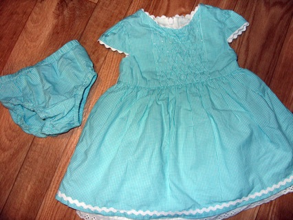 140b57dcf Free  New Beautiful Blue Gingham Easter Dress   Matching Bloomers ...