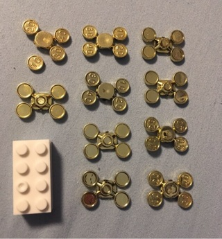 40 Mini Gold Coins / Money on Sprue. Lego Compatible