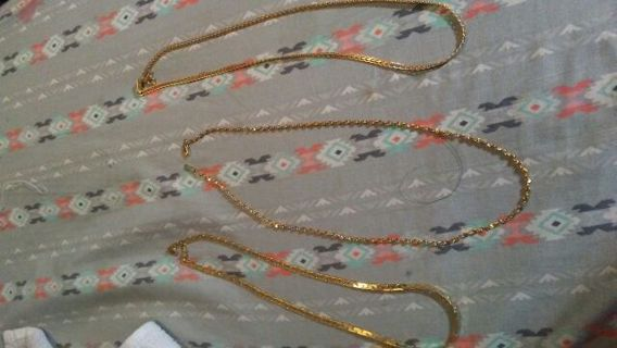 Triple gold chains brand new
