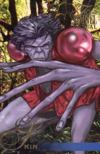 1995 Marvel Comic Trade Card: Skin