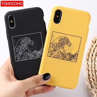 The Great Wave off Kanagawa Back Cover Soft Phone Case Fundas For iPhone 7Plus 7 6Plus 6 6S 5S 8 8