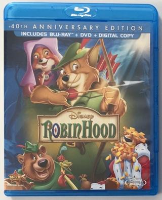 Disney Robin Hood 40th Anniversary Edition Blu-ray + DVD Combo Movie - Mint Discs!