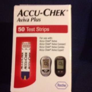 50 ACCU-CHEK Aviva+ Glucose Strips. Latex-Free Band Aids/Alcohol Pads/Lancets