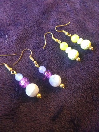 Winners Choice : Amethyst Or Citrine 100% New Earrings * GIN for BOTH*