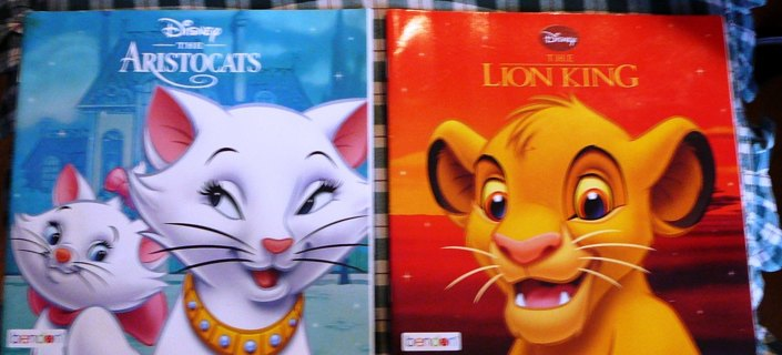 "Disney's ""The Aristocats and The Lion King"" Paperbacks"