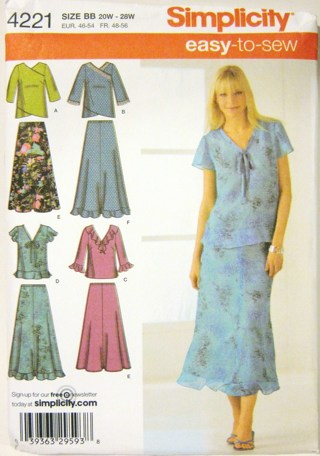 Free Plus Size Womans Blouse And Skirt Sewing Pattern Sizes
