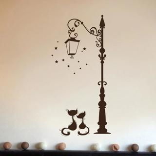 Cute Cat Fashion Wall Stickers Funny Cat Stickers Living Room Decor Tv Wall Decor Child Kids Bedro