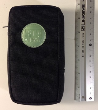 Universal GPS, PDA, Small Digital Camera, Gadget, Smartphone Accessory Blk Nylon Carrying Case Pouch