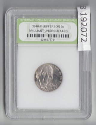2010-P BRILLIANT UNCIRCULATED Jefferson Nickel SPECIAL get 1/2 OFF all additional 192072