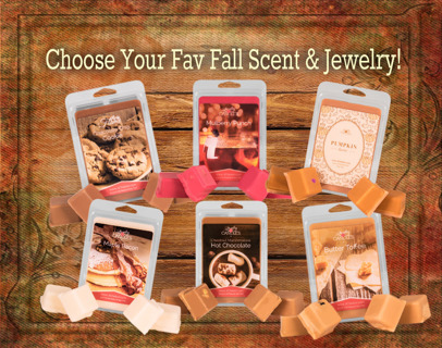 JIC Fall Scents Tart Pack - Choose Your Scent & Jewelry!! **GIN BONUS**