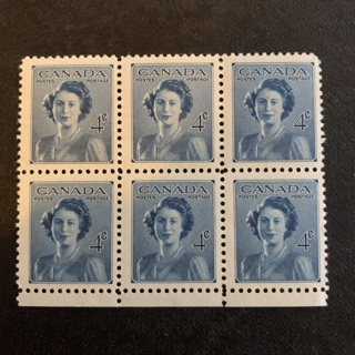MNH Canada collectable vintage stamp block of 6 stamps