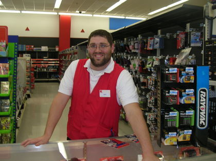 Free solid red smock vest apron has 2 pockets kmart for Kmart shirts for employees