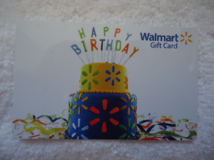 GIFT CARD WALMART HAPPY BIRTHDAY