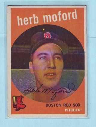 1959 Topps Herb Moford Baseball Card # 91 Red Sox
