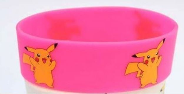 Pokemon Pikachu Wrist Band bracelet POKEMON JEWELRY pocket monster anime pink