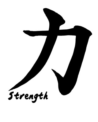 Free Strength Or Courage Japanese Kanji Poster 8x10 Other Cameras