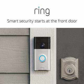 Open Box Ring Video Doorbell w/HD Video, Motion Activated Alerts, Easy Installation - Satin Nickel