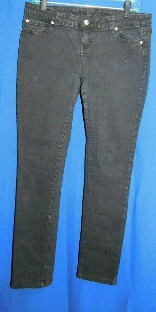 Designer Black Jeans BLUE ASPHALT Size 13 Trendy/Style