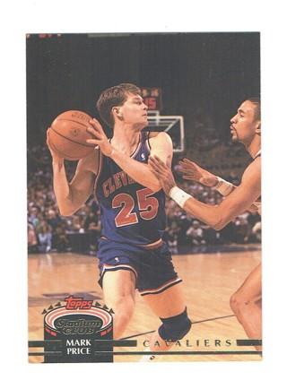Mark Price Cleveland Cavaliers Guard Topps Stadium Club 1992 NBA Rookie Basketball Card #12