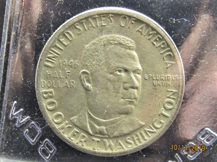 "★★ ""AU"" 1946 BOOKER T WASHINGTON  HALF DOLLAR ★★ **COMMEMORATIVE 90% SILVER**"