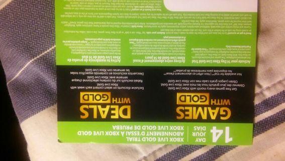Xbox live codes gratis